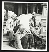 view William Carlos Williams, Charles Sheeler and Carl Carmer at Carmer's house digital asset number 1