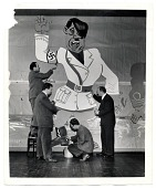 view Faculty of the Art Students League working on a mural of Hitler digital asset number 1
