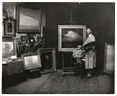 view Leon Dabo in his Brooklyn studio digital asset number 1