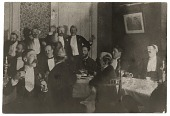 view Artists at a banquet for Harry Siddons Mowbray digital asset number 1