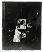 view Charles Curran with his daughter, Emily, in his studio digital asset number 1
