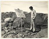 view John Marin painting outdoors digital asset number 1