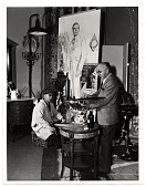 view Ivan and Malvin Albright, working on a painting for the film <em>The picture of Dorian Gray</em> digital asset number 1