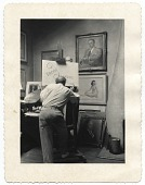 view Penrhyn Stanlaws in his studio digital asset number 1