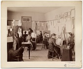 view Art class at the State School for the Deaf in Delavan, Wisconsin digital asset number 1