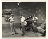 view Bruce Mitchell on the set of a Jazz television program digital asset number 1