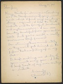 view Elaine Marie De Kooning letter to James Madison Hines Mitchell digital asset number 1