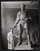 view Pietro Montana with his doughboy sculpture digital asset number 1