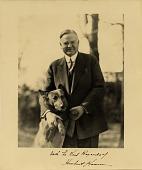 view Herbert Hoover and his dog 'King Tut' digital asset number 1