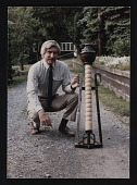 view Photograph of Thomas Morin with sculpture digital asset number 1