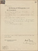 view Library of Congress Copyright Certificates digital asset: Library of Congress Copyright Certificates
