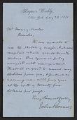 view John Bonner letter to Henry Mosler digital asset number 1