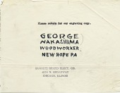 view George Nakashima papers, 1950-1991 digital asset number 1