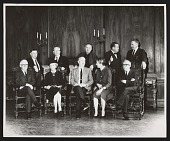 view Photograph of Isabel Bishop, Raphael Soyer, and others at 142nd Annual Exhibition of National Academy of Design digital asset number 1