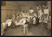 view Photograph of life class taught by Leon Kroll digital asset number 1
