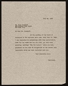 view National Arts Club (New York, N.Y.) letter to Dean Cornwell, New York, N.Y. digital asset number 1