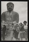 view Photograph of Senga Nengudi and women in front of statue of Buddha in Japan digital asset number 1