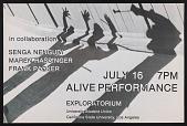 view Flyer for <em>Alive</em> performance at University of California, Los Angeles digital asset number 1