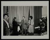 view Louise Nevelson receiving an award from President Jimmy Carter and Joan Mondale digital asset number 1