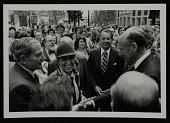 view Louise Nevelson, Mayor Ed Koch and David Rockefeller at Chase Manhattan Plaza opening digital asset number 1