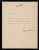 view Peggy Guggenheim, New York, N.Y. letter to Louise Nevelson, New York, N.Y. digital asset number 1