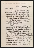 view Max Weber letter to Louise Nevelson digital asset number 1