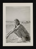 view Photograph of Linda Nochlin as an adolescent on the beach digital asset number 1