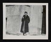 view Photograph of Linda Nochlin wearing a coat digital asset number 1