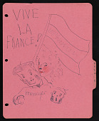 view Doodles on French notebook divider digital asset number 1