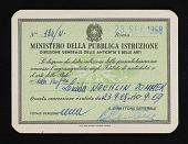 view Ministero Della Pubblica Istruzione identification card digital asset number 1