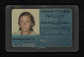 view Vassar College Faculty identification card digital asset number 1