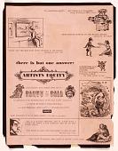 view Artists Equity Ball advertisement and program of Artists Equity Association meeting digital asset: verso