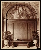 view Violet Oakley mural <em>Youth and the Arts</em> in the hall of Charlton Yarnall's Philadelphia home digital asset number 1