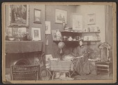 view Violet Oakley in her studio at 1523 Chestnut Street digital asset number 1