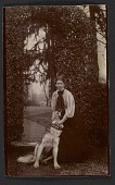 "view Violet Oakley with St. Bernard Maximilian ""Prince"" of Neuvied, Gift of Joseph G. Lester digital asset number 1"