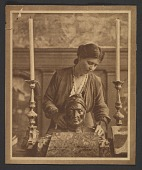 view Violet Oakley with bust of Dante Alighieri digital asset number 1