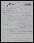 view L. Ciechanowiecki, Montevideo, Uraguay letter to Naul Ojeda, Baltimore, Maryland digital asset number 1