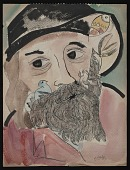 view Sketchbook with portrait of Walt Whitman digital asset number 1
