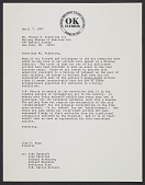 view Ivan C. Karp letter to Thomas N. Armstrong III digital asset: page 1