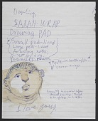 view Jules Olitski notes to Joan Olitski digital asset: Notes from Jules Olitski to Joan Olitski
