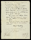 view Henri Matisse, Tangiers, Morocco letter to Walter Pach, New York, N.Y. digital asset number 1