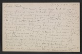 view Morton Schamberg letter to Walter Pach digital asset: postcard back 2
