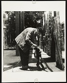 view Photograph of Diego Rivera with a spider monkey digital asset number 1