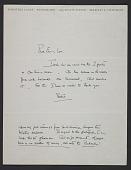 view Dorothea Lange letter to Emmy Lou Packard digital asset number 1