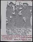 view Note about photograph of Ralph Stackpole with Diego Rivera and Frida Kahlo digital asset number 1