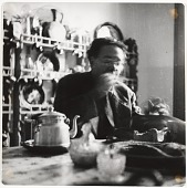 view Photograph of Diego Rivera eating at a table digital asset number 1