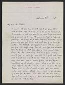view Maxfield Parrish, Windsor, Vt. letter to Mr. Coates digital asset number 1