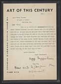 view Peggy Guggenheim, New York, N.Y. letter to Betty Parsons, New York, N.Y. digital asset number 1