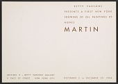 view Betty Parsons presents a first New York showing of oil paintings by Agnes Martin digital asset number 1