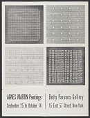 view Agnes Martin Paintings exhibition poster digital asset number 1
